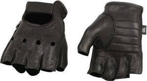 Deer Skin Fingerless Gloves
